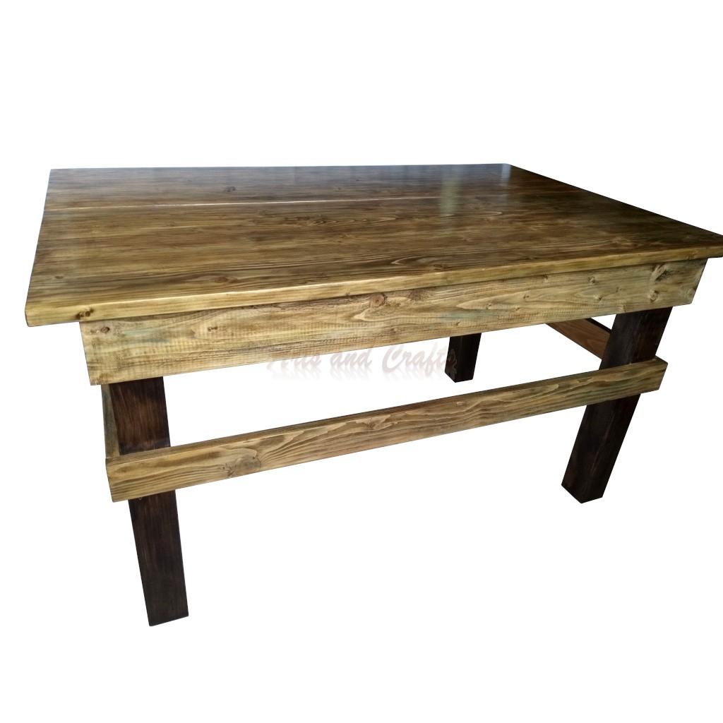 Masa de lemn cu doua compartimente de depozitare