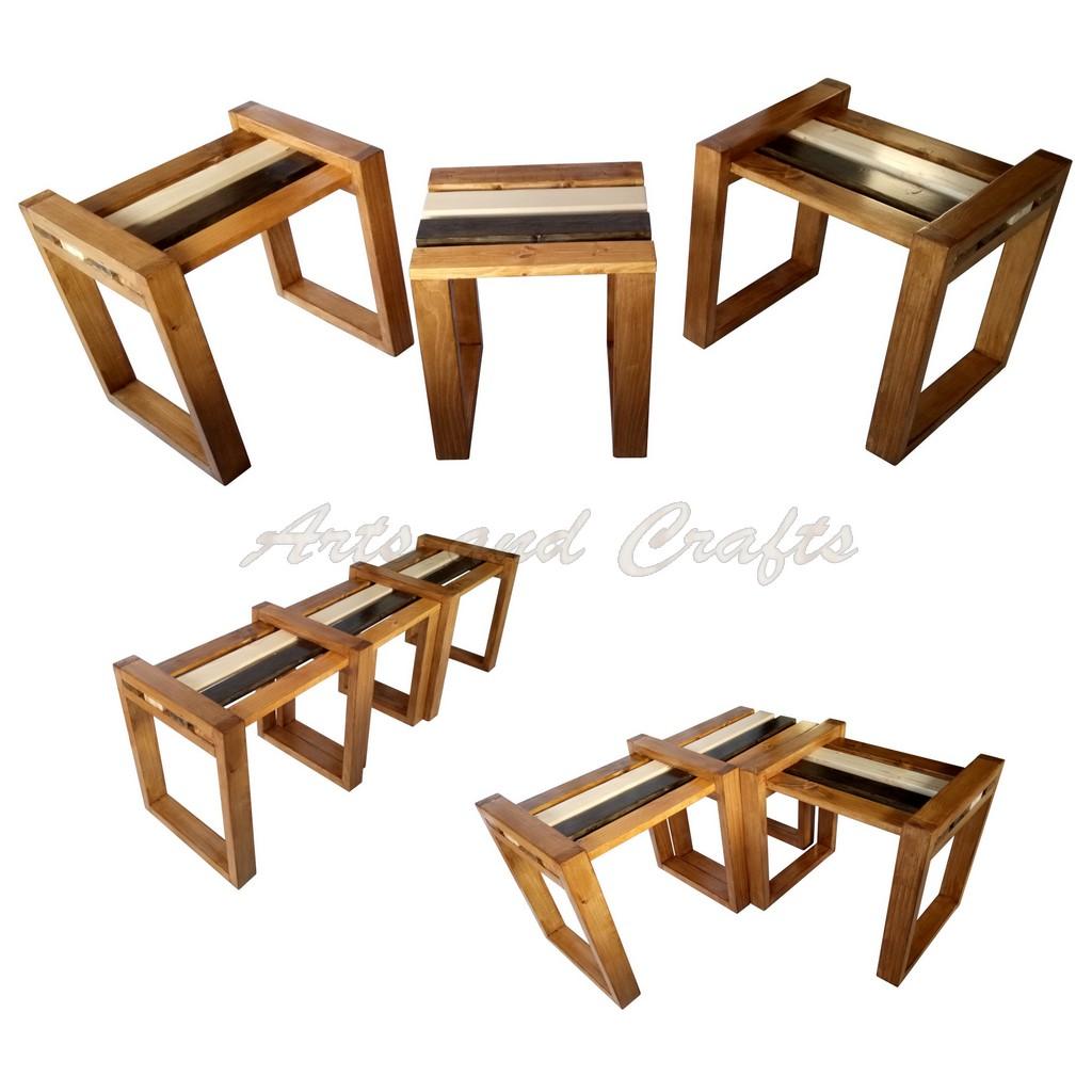 Banca modulara din lemn - 4 shades