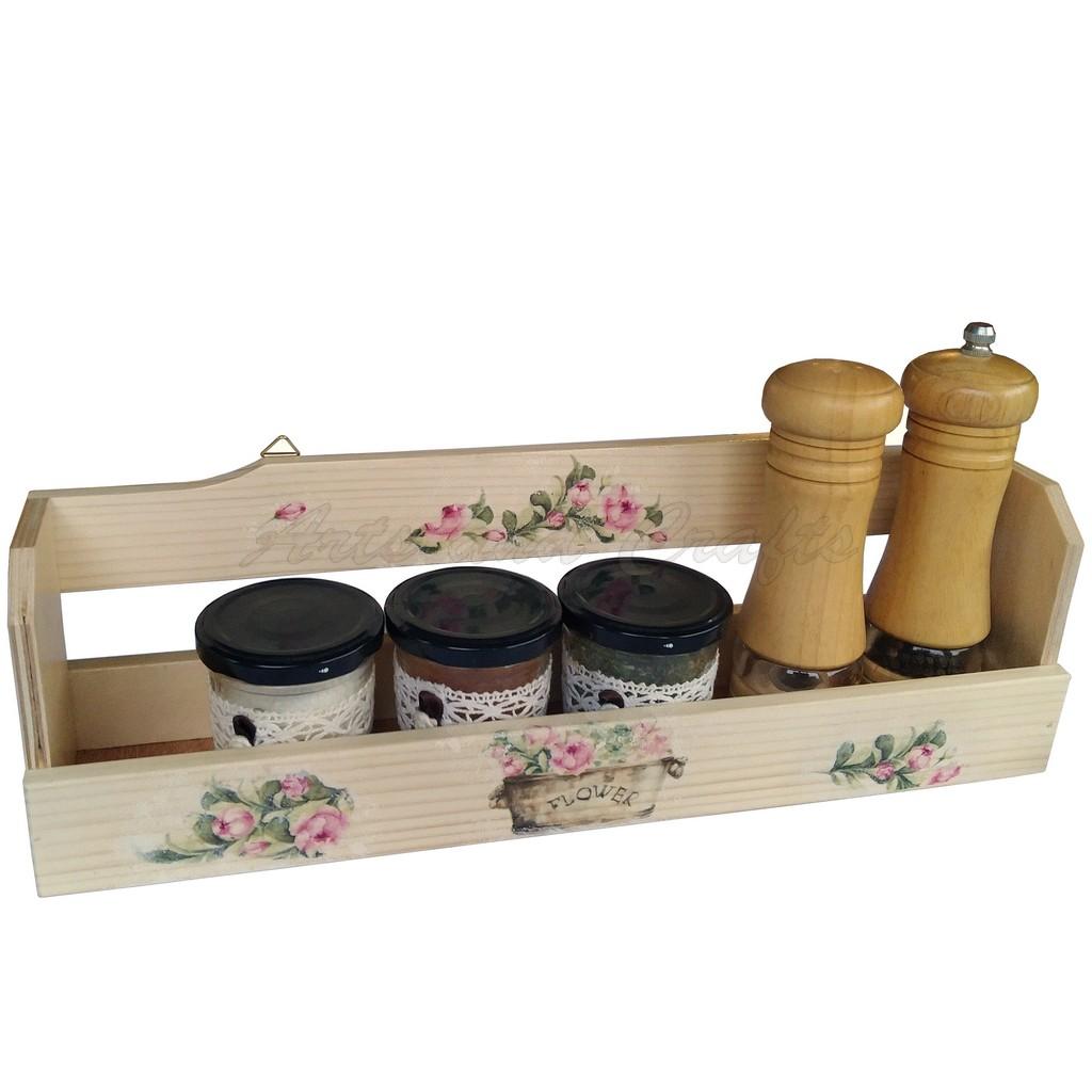 """Suport din lemn pentru condimente model """"Flower"""""""